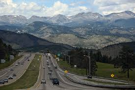 Interstate 70 through the Rocky Mountains