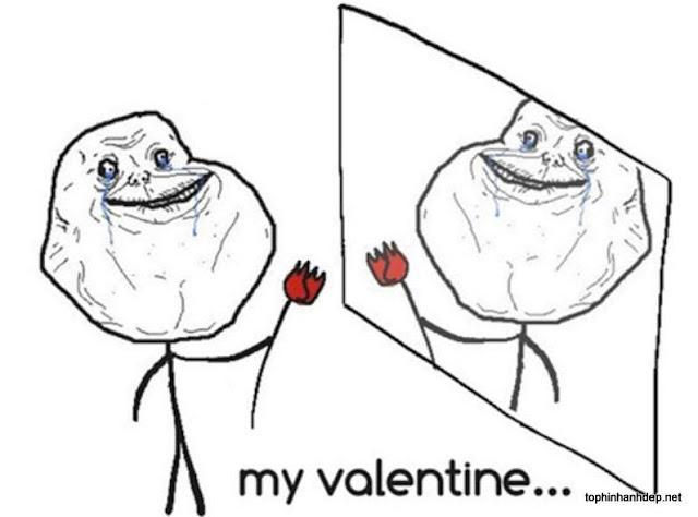 Ảnh chế Valentine FA, hình ảnh chế FA Valentine 14-2 hài