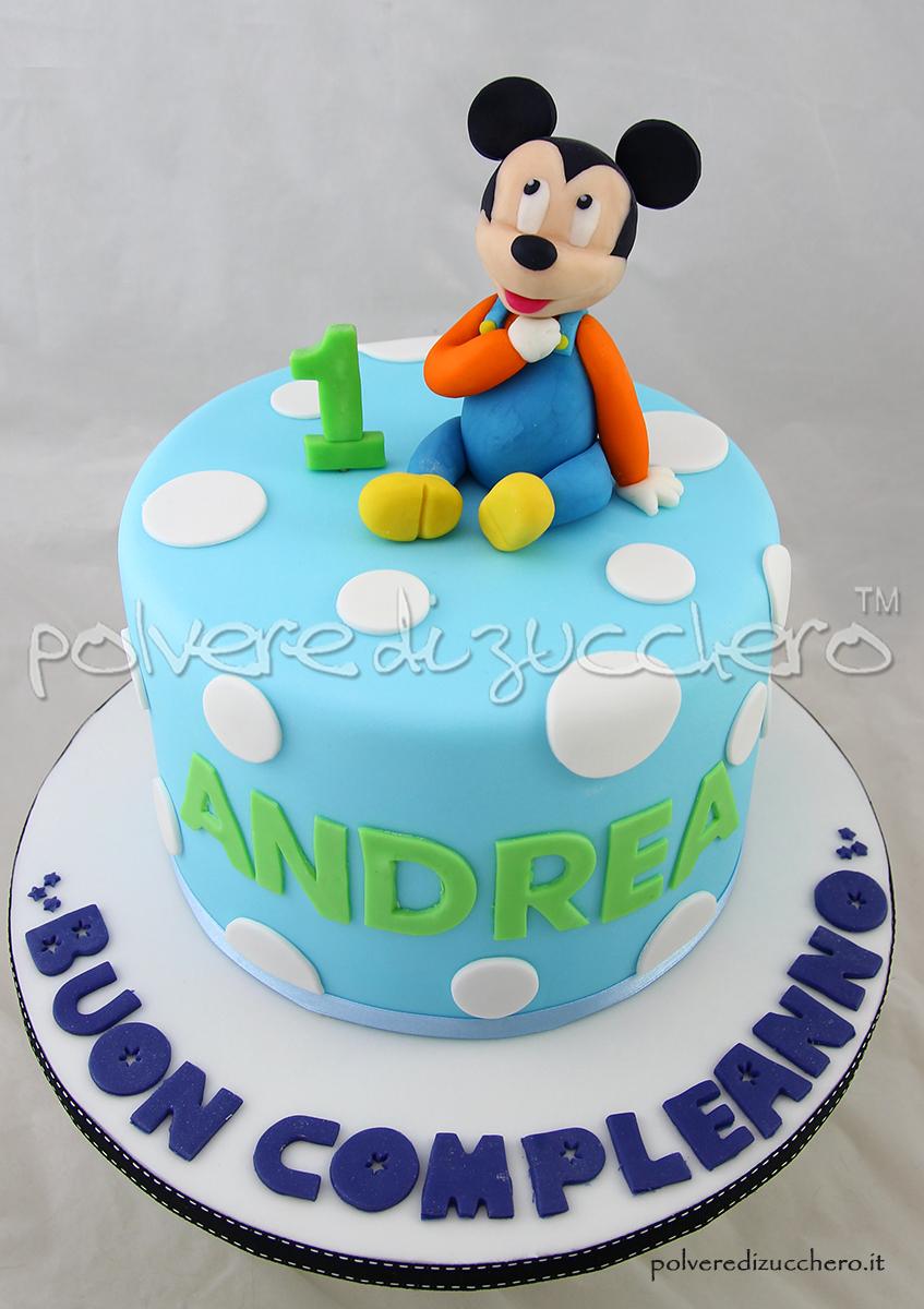 torta topolino mickey mouse baby topolino cake design pasta di zucchero polvere di zucchero modelling primo compleanno