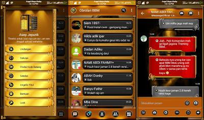 BBM Mod Black Gold Angelic Base Transparan 3.1.0.13 Apk