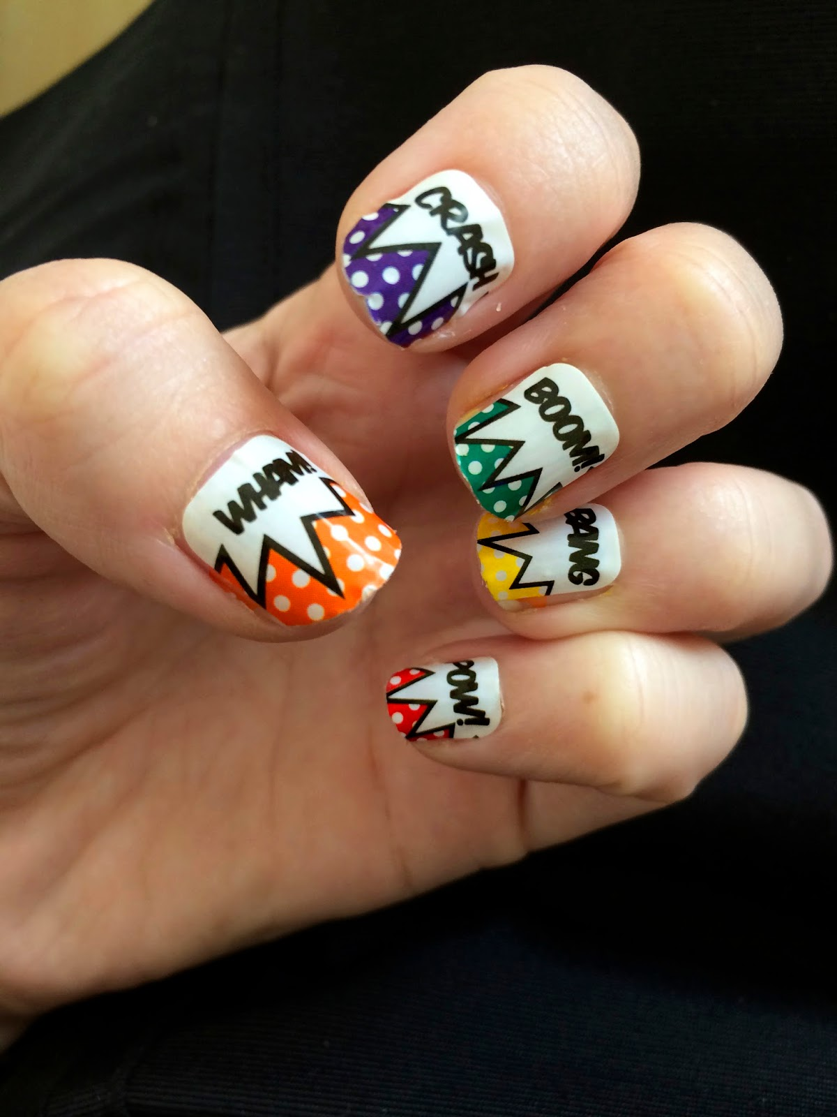 Pop Art Nails, Comic Book Nails, Trendy Nails, Asos Nail Decals
