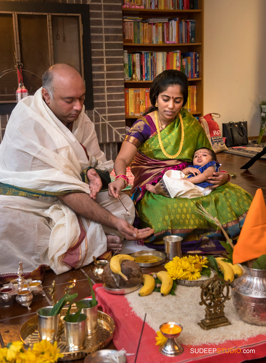 Indian Hindu Baby Naming Ceremony SudeepStudio.com Ann Arbor Indian Event Photographer
