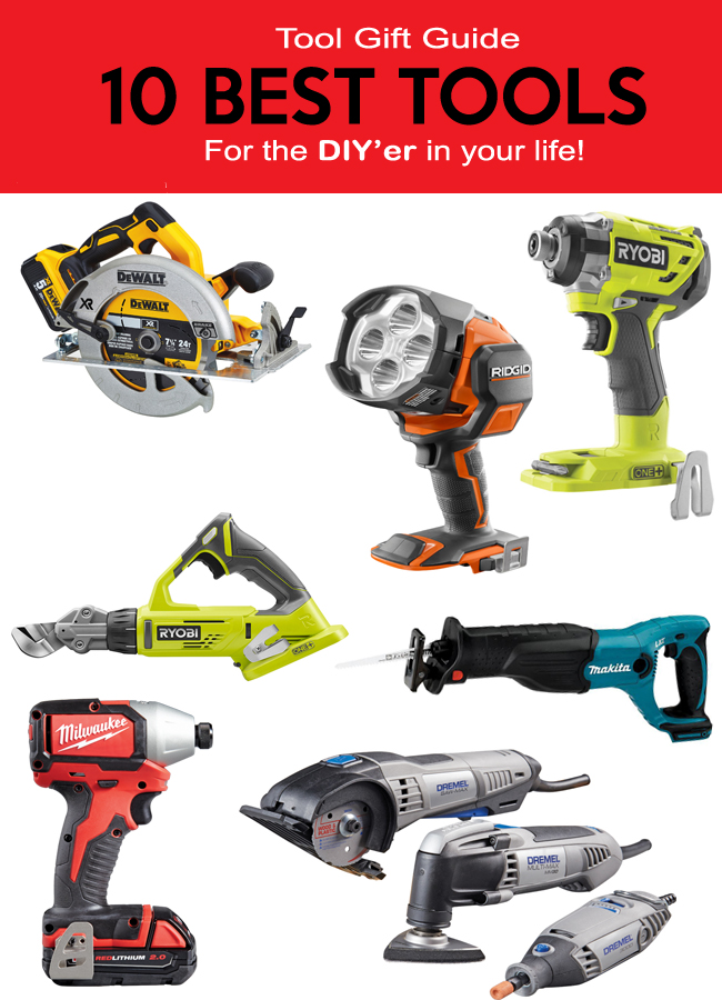Ryobi, Makita, DeWalt, Ridgid, Dremel power tools for the diyer