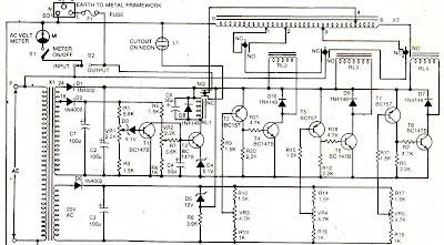 electronics projects ac mains voltage stabilizer circuit. Black Bedroom Furniture Sets. Home Design Ideas