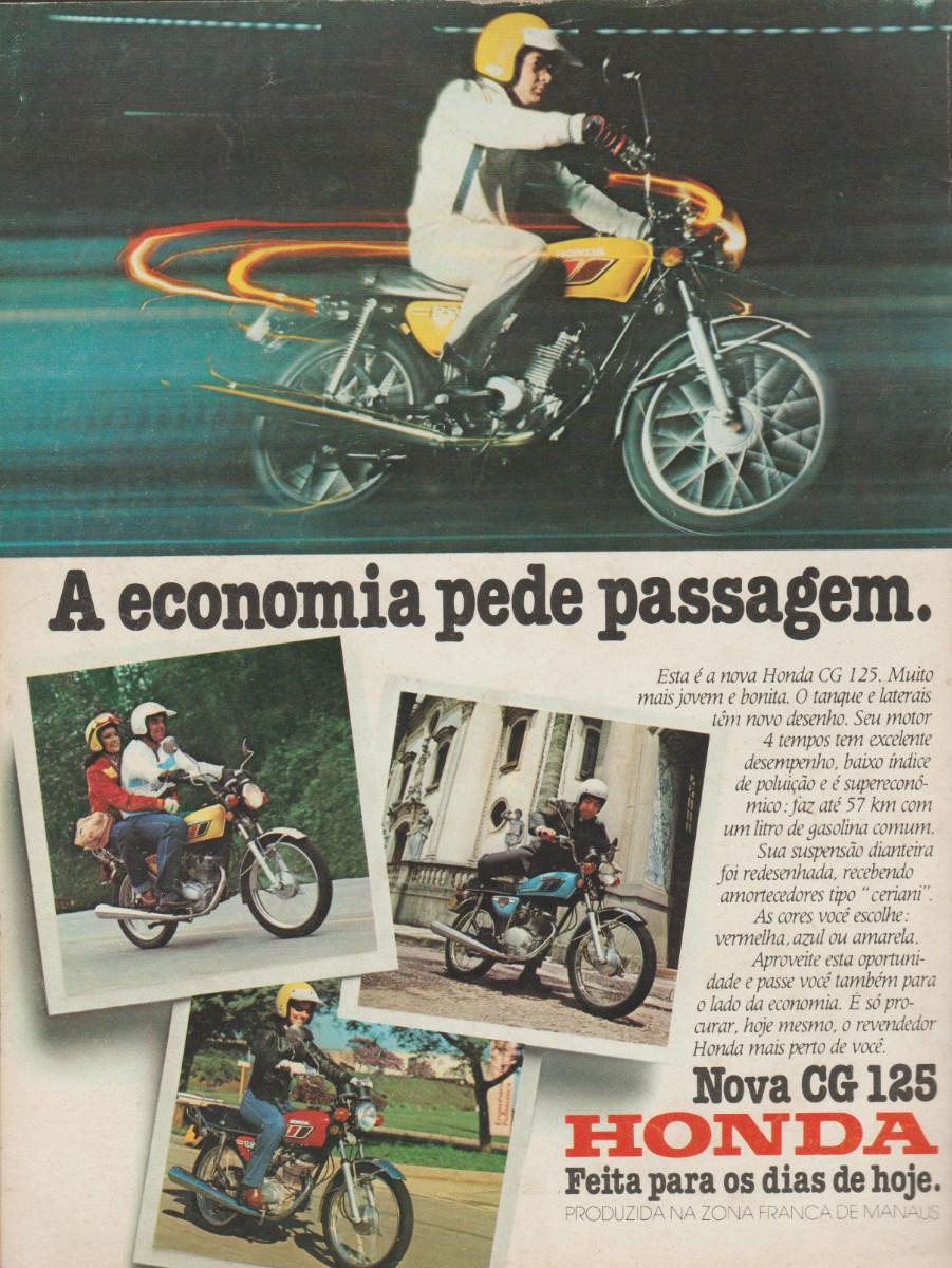 Campanha publicitária da Honda para promover a CG 112 no final dos anos 70