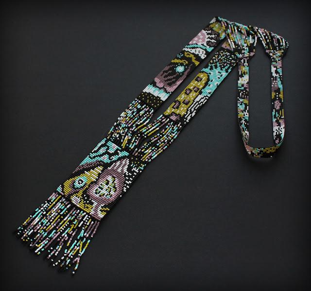 крупные украшения на шею купить длинное колье из бисера дорого