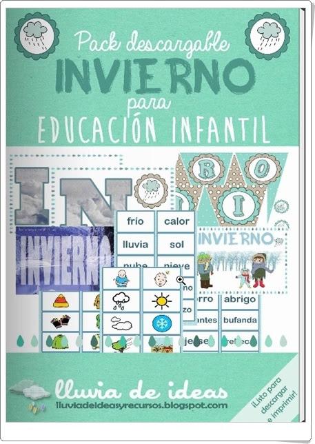"""Pack descargable: """"Invierno para Educación Infantil 1"""""""