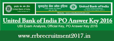 United Bank of India PO Answer Sheet 2016