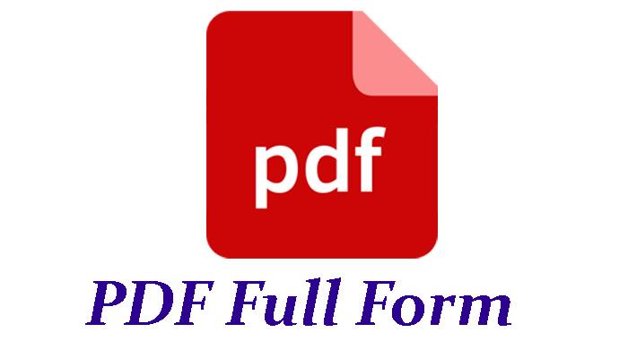 PDF Full Form in Hindi - पीडीएफ क्या है?