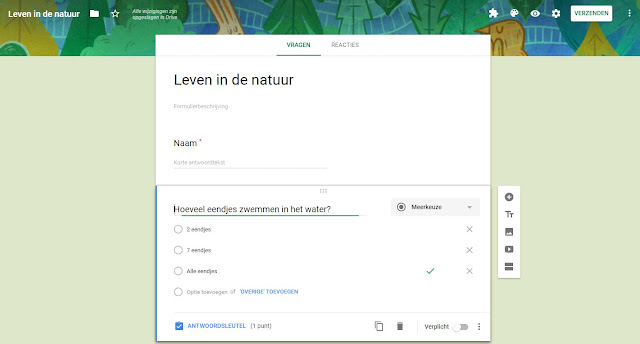 google formulieren toets