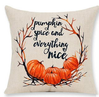 Pumpkin Spice and Everything Nice Pillow Cover featured on Walking on Sunshine.