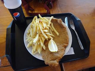Almoço no restaurante do parque Piedras Blancas em Bariloche