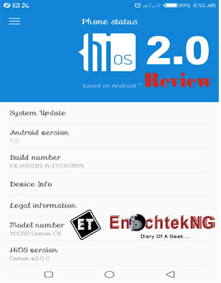 HiOS 2.0 Software Review On TECNO Camon CX