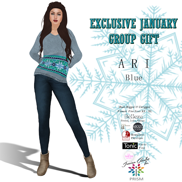 PRISM ~ NEW Group Gift for January 2019 ARI Jeans Outfit in Blue