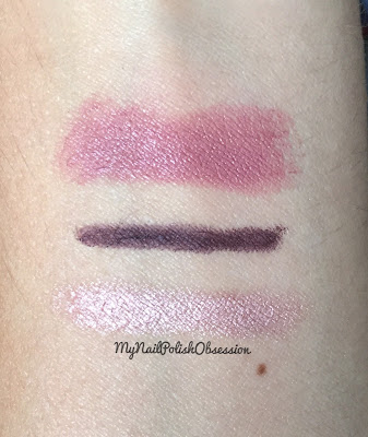 Rimmel London MagnifEyes Pink & Purple Rain & NYC New York Color Get It All Lip Color ExceptioNUDE