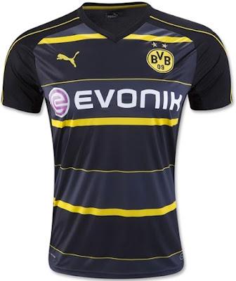 Borussia Dortmund 2016-17 Away Soccer Jersey