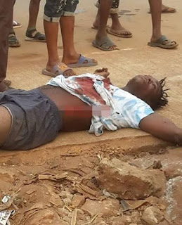 Photos: Young man shot dead by suspected cultists in Edo State