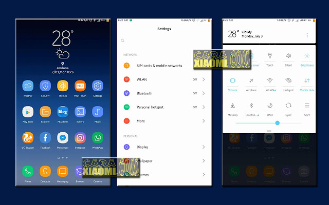 Download Link MIUI Theme Galaxy S8X Mtz For Xiaomi By Anky Walker