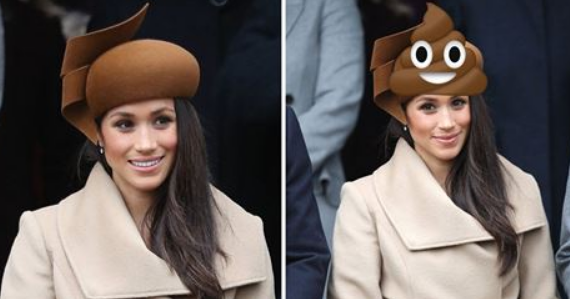 """PRINCE HARRY'S BRIDE WEARS """"POOP HAT"""" TO XMAS DAY SERVICE"""