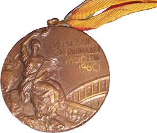 Bronze medal, medalla bronce, JJ.OO., Moscú 1980, Moscow 1980,