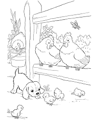 Chicken Farm Animals - Coloring Pages