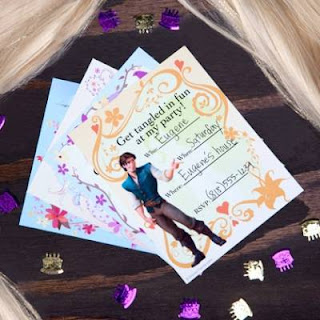 free tangled birthday invitations