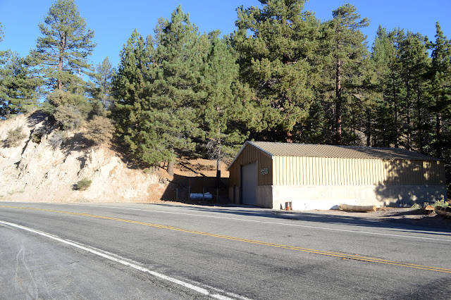 Caltrans shed beside the road
