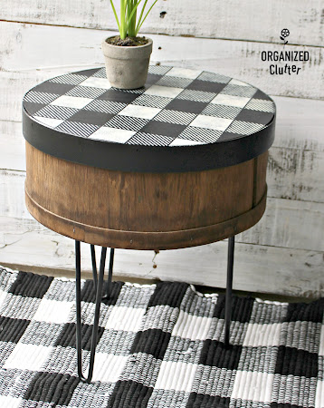 Repurposed Cheese Box Side Table