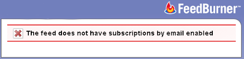 The feed does not have subscriptions