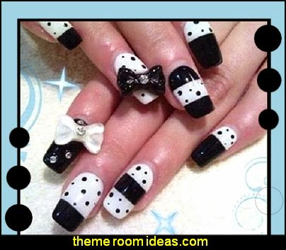nail decorations-bows nail decorations-nail design