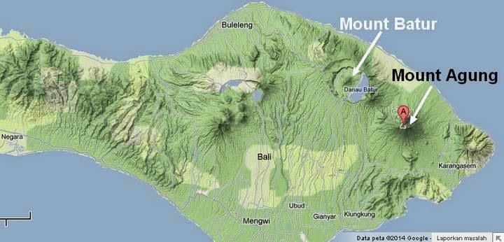 Active volcano in Bali
