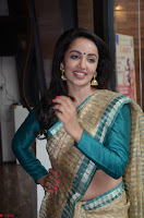 Tejaswi Madivada looks super cute in Saree at V care fund raising event COLORS ~  Exclusive 001.JPG