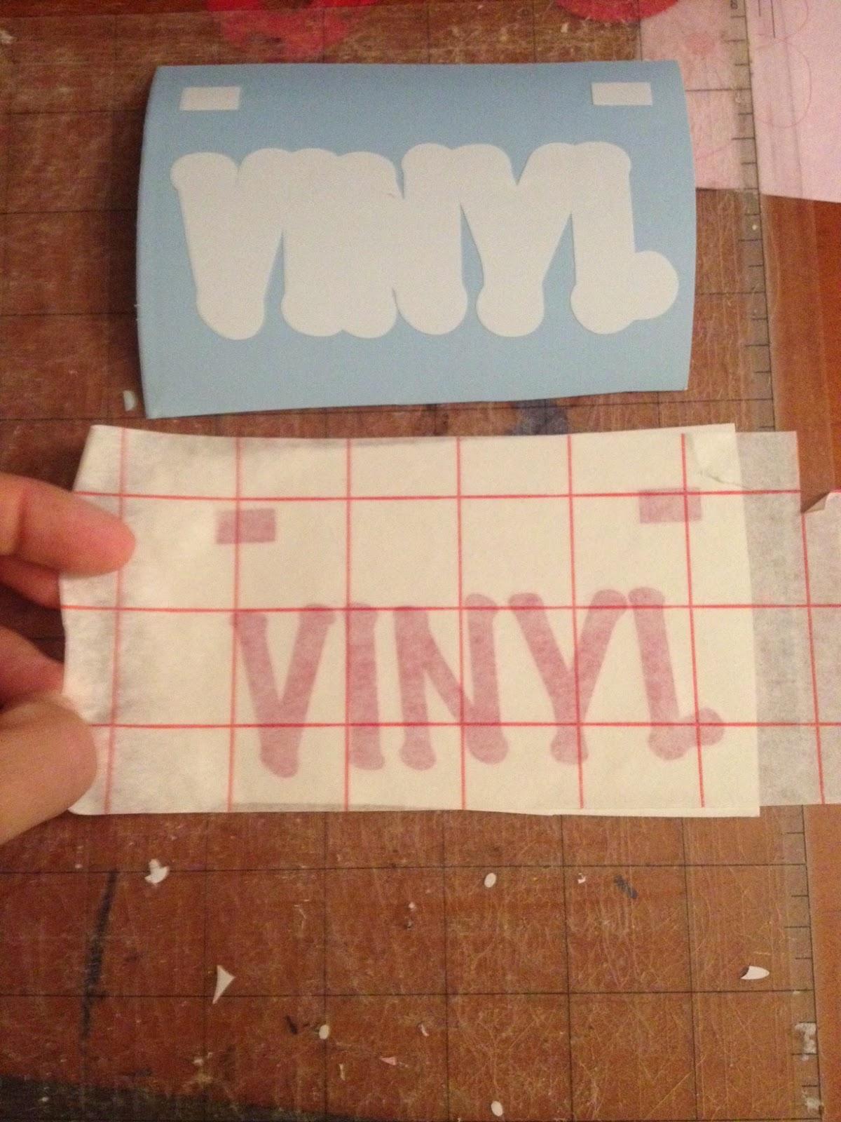 Layering, vinyl, Silhouette tutorial, Silhouette Studio, gridded transfer tape