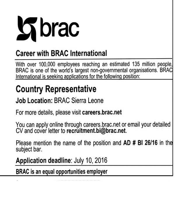 Overseas Jobs BRAC JOB CIRCULAR 2016 Jobs Hour Bd