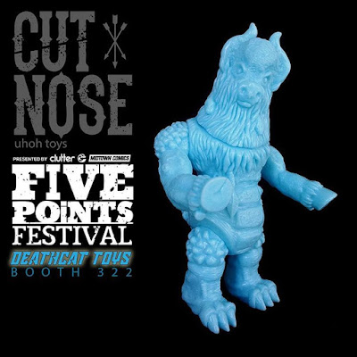 Five Points Festival Exclusive Cut Nose Creamy Blue Unpainted Edition Vinyl Figure by UhOh Toys