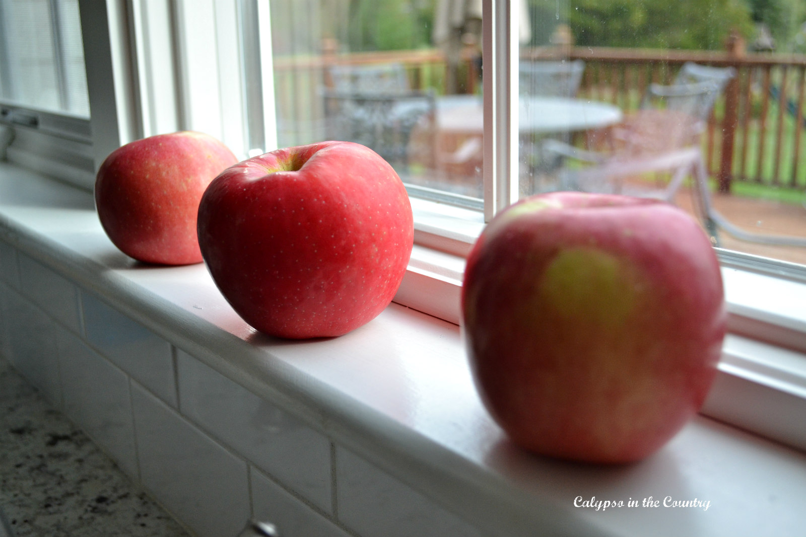Apples on the windowsill