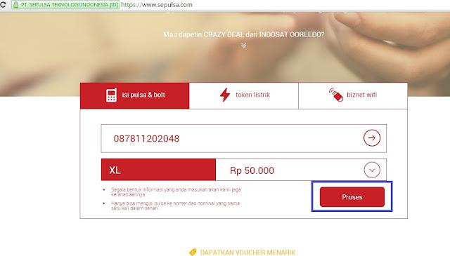 Cara Membeli Pulsa XL di Sepulsa.com