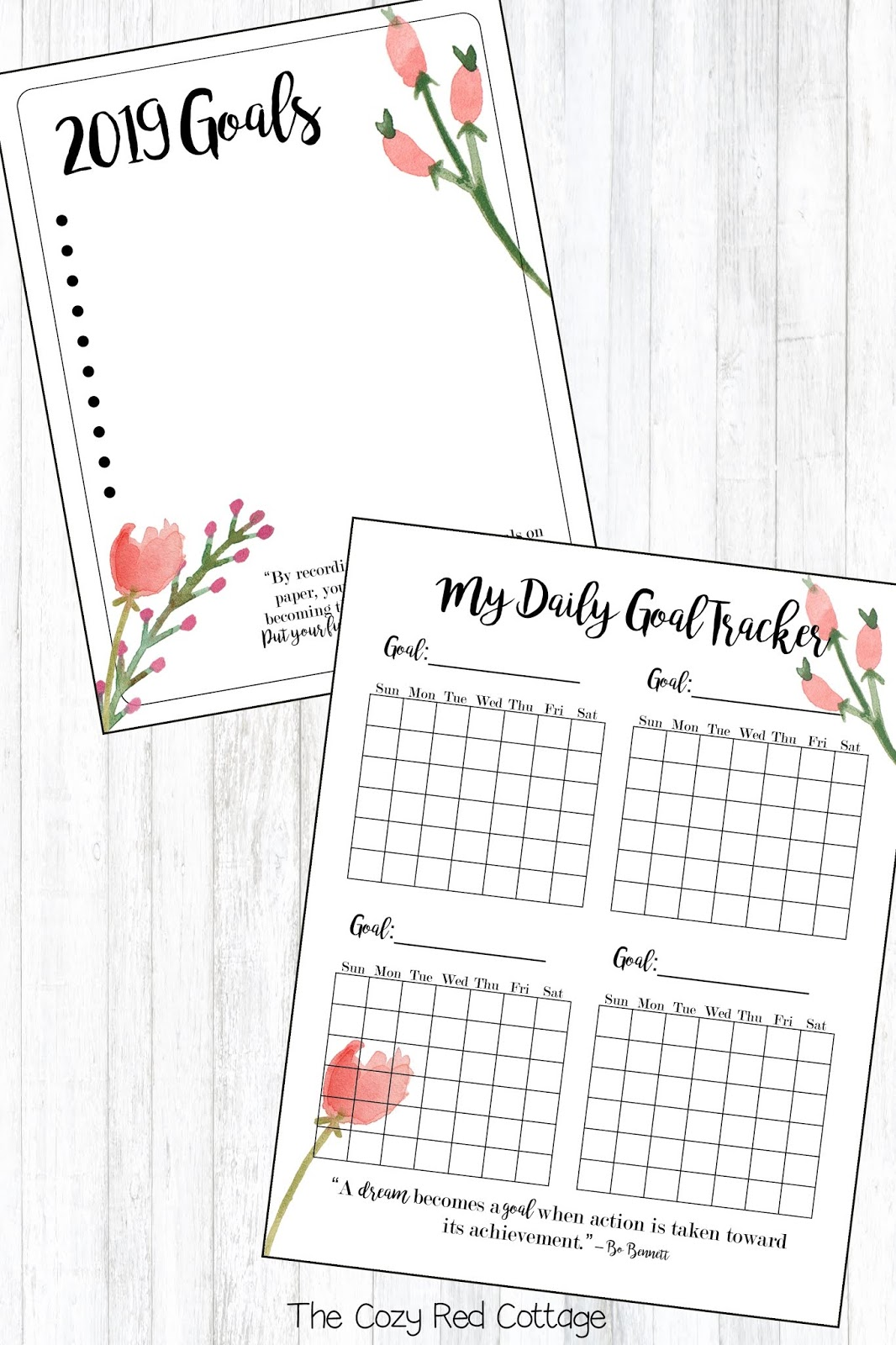 The Cozy Red Cottage: 2019 New Year Resolution Printable