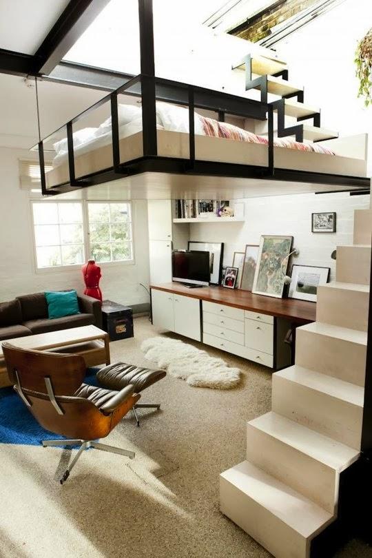 design for loft. Black Bedroom Furniture Sets. Home Design Ideas