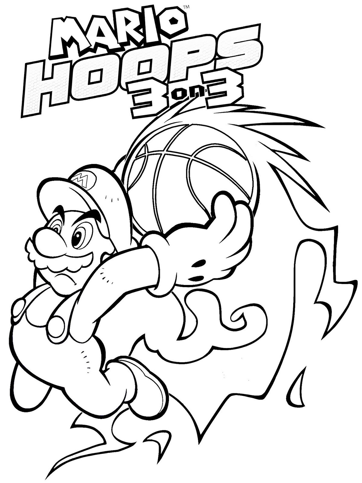 mario brothers coloring pages free - photo#20
