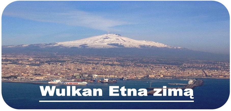 wulkan Etna zimą