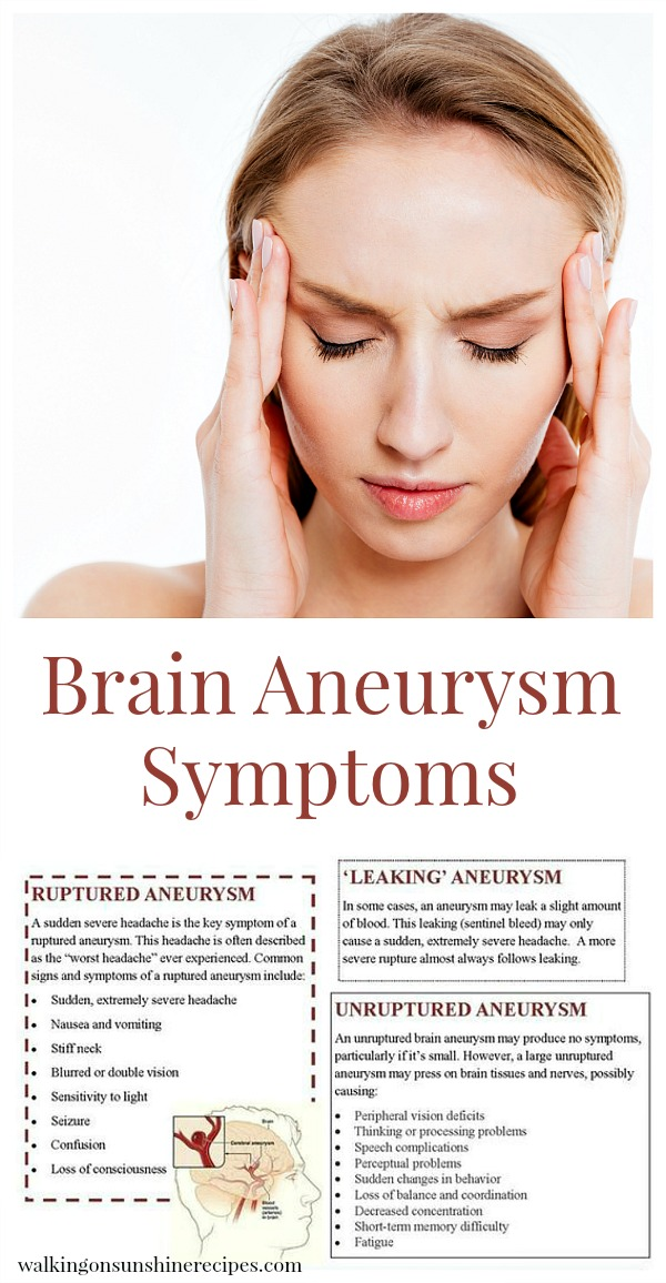 brain aneurysm symptoms - walking on sunshine, Human body