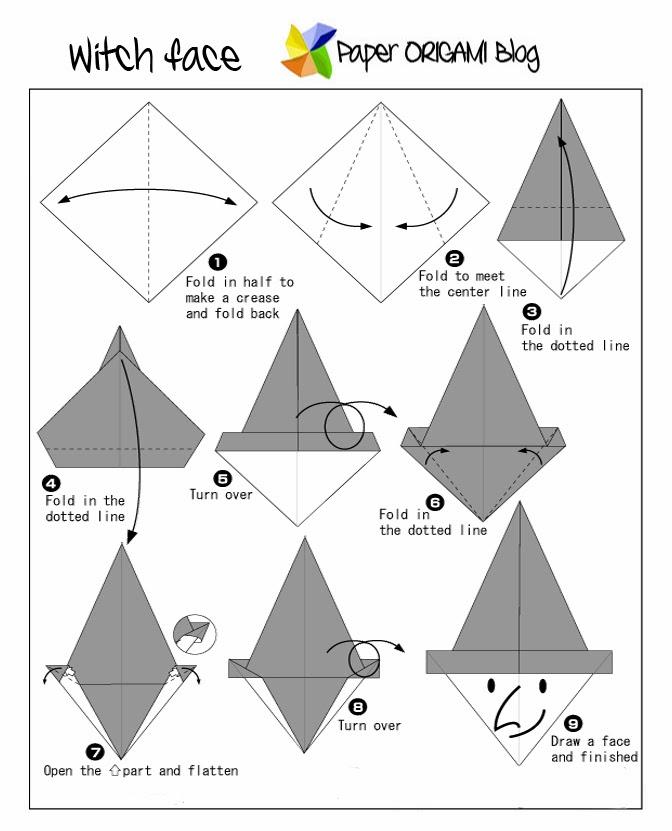 Peachy Halloween Origami Diagram Basic Electronics Wiring Diagram Wiring Database Wedabyuccorg