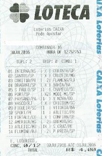 LOTECA 712 - DRAGOLINOS DO FLORENÇA