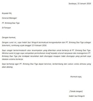 Info Cara Buat Contoh Surat Pengunduran Diri Resign Memelucu Web Id