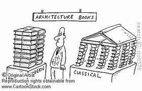Meme de humor sobre libros de arquitectura