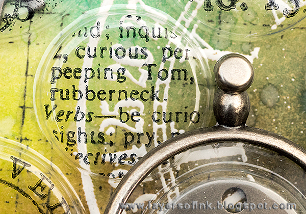 Layers of ink - Recycled tag with Tim Holtz stamps by Stamper's Anonymous