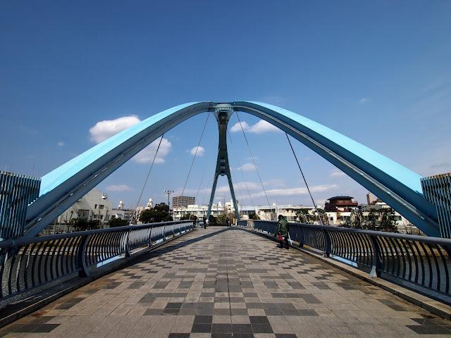 亀戸中央公園 旧中川 ふれあい橋
