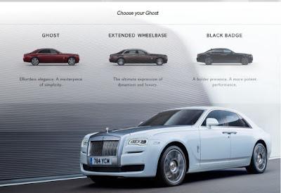 Rolls Royce Ghost hantu besi dari Inggris