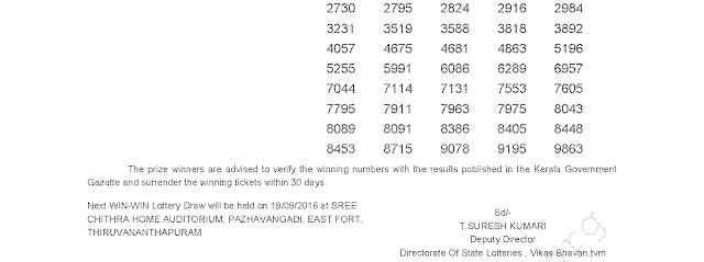 WIN WIN W 376 Lottery Results 12-9-2016